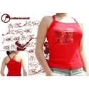 Red tank top capoeira tshirt for women