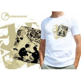 White capoeira tshirt Raiz