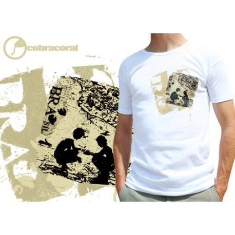 Tshirt de capoeira blanc Cobracoral Raiz