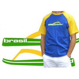 Blue and yellow capoeira tshirt - Tong
