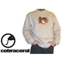 "Sweat Cobracoral  broderie ""Cobra no coco"""