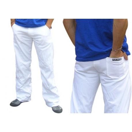 Pantalon de capoeira blanc social pour Homme Marimbondo Sinha