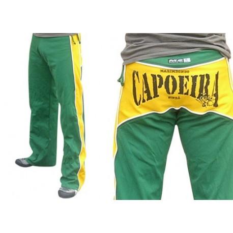 Pantalon de capoeira vert et jaune Dibum Marimbondo Sinha