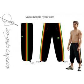 3/4 capoeira pants - Voador black afro