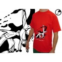 Red capoeira tshirt Swing - Cobracoral