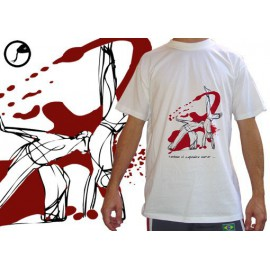 "Tee-shirt Cobracoral © - Swing - ""Cabeçada"" blanc"