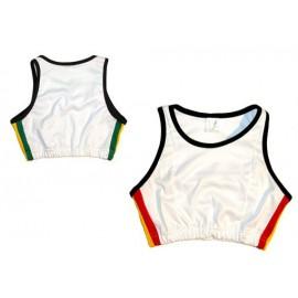 Top Jogando Capoeira - Afro blanc