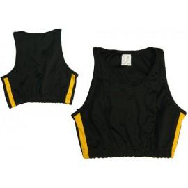 Top de capoeira noir et jaune pour femmes