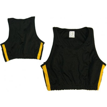 Top Jogando Capoeira - Duas linhas noir&jaune