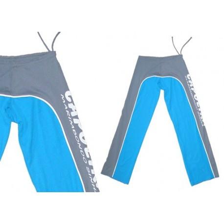 Pantalon de capoeira Gris et Bleu Ferradura Marimbodo Sinha