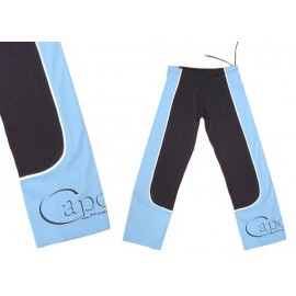 Sky blue and black capoeira pants Ferradura Marimbondo Sinha