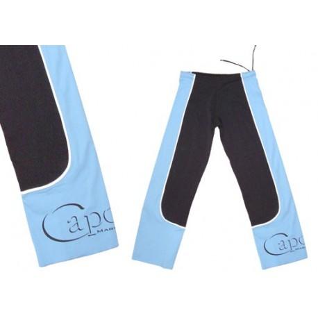 Pantalon de capoeira bleu et noir Ao Contrario Marimbondo Sinha