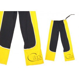 Yellow and black capoeira pants Ferradura Marimbondo Sinha