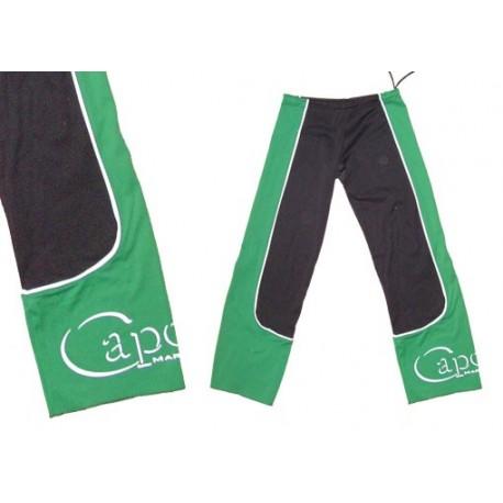 Pantalon de capoeira M.S. Ferradura ao Contrario Vert et noir