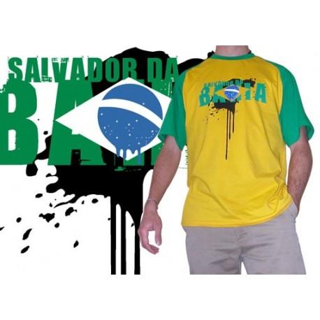 Tshirt Cobracoral Brasil - Salvador 01 jaune/vert