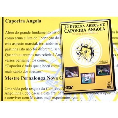 DVD Mestre Pernalonga 1a oficina Arbos de Capoeira Angola (Brasil)