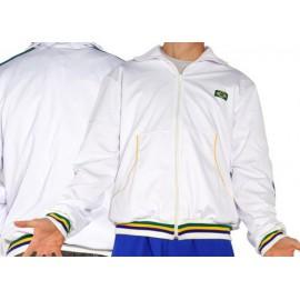 Veste Jogando  Capoeira  H-Afro blanc brazil