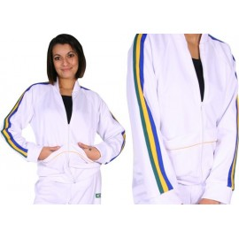 Veste Blouson Jogando Capoeira © femme- Afro blanc bis
