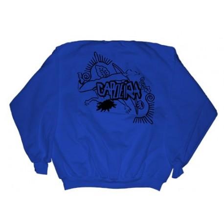 Sweatshirt de capoeira bleu pour enfants