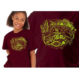 Burgundy capoeira tshirt for kids
