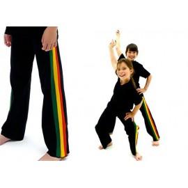 Pantalón de capoeira preto Afro para niños - Marimbondo Sinha
