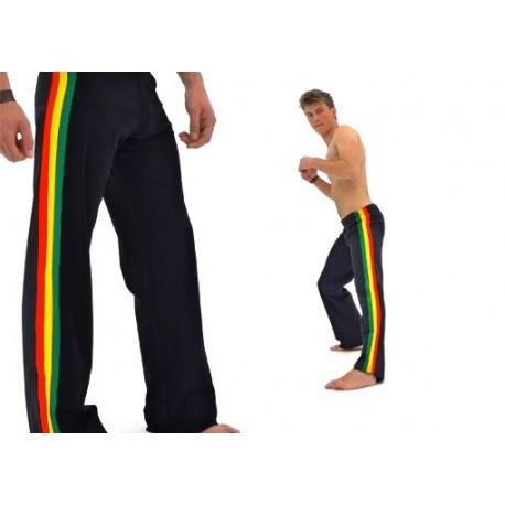 Black capoeira afro pants Marimbondo Sinha