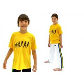 Tshirt de capoeira jaune enfant Evolution du Capoeiriste