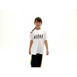 Tee-shirt capoeira Enfant évolution blanc