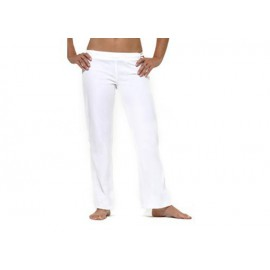 Pantalon de capoeira blanc femme Marimbondo Sinha, Abada blanc
