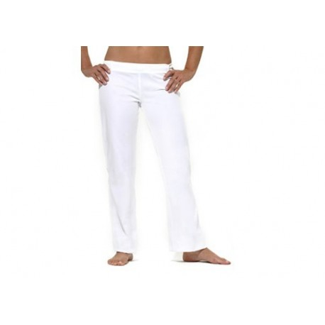 White capoeira pants for women Marimbondo Sinha