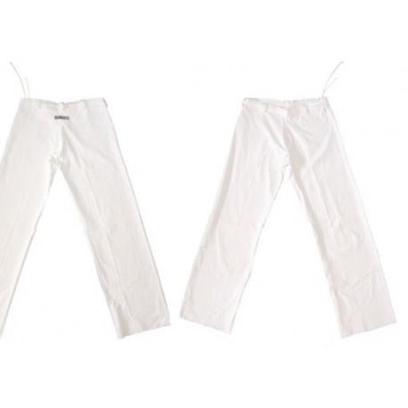 Pantalon de capoeira Marimbondo Sinha Abada blanc Enfant