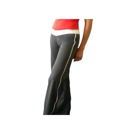 Pantalon de capoeira femme gris et blanc Marimbondo Sinha
