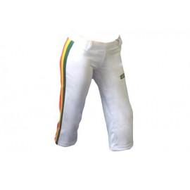 Pantalon de capoeira femme, Abada afro blanc, corsaire