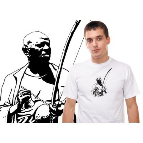 Tshirt capoeira Bimba jouant du berimbau TS11