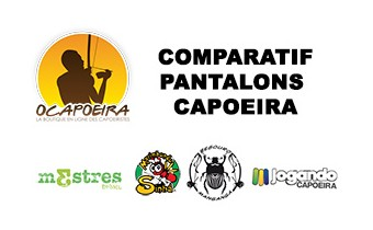 Capoeira pants comparison chart